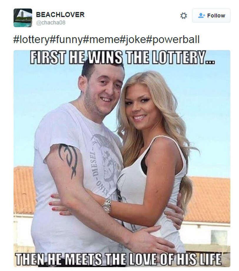 Powerball meme via @chacha08 on Twitter Photo: Twitter