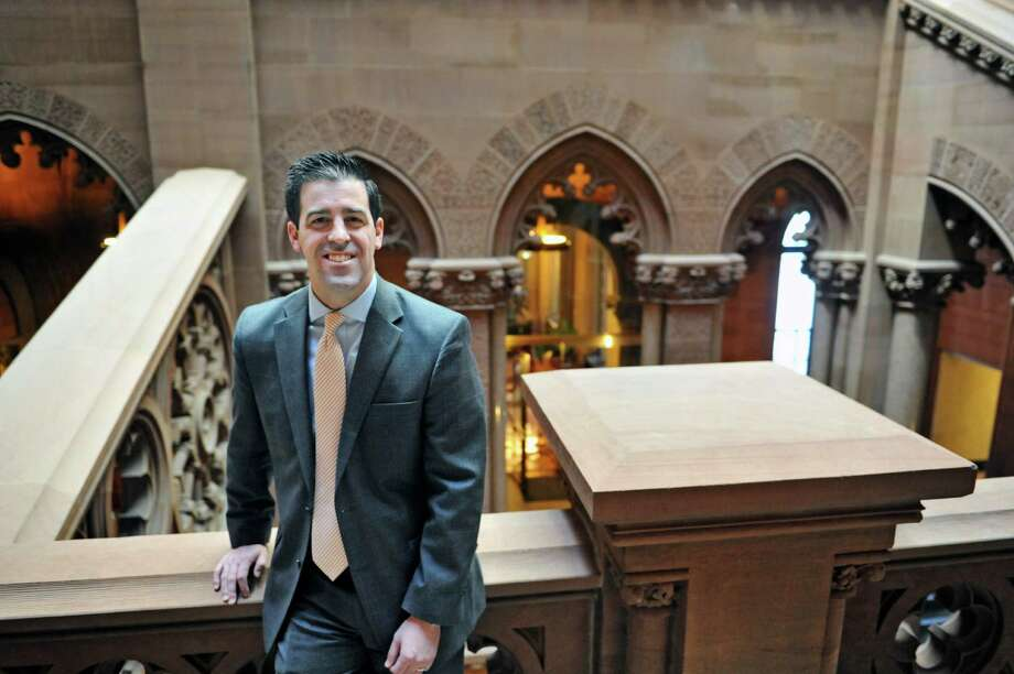 Matt O'Connor, a lobbyist with Hinman Straub, poses for a photo at the Capitol on Wednesday, Jan. 6, 2016, in Albany, N.Y.  (Paul Buckowski / Times Union)