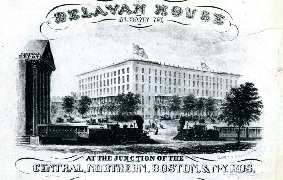 Delavan House hotel, undated. (Times Union archive)