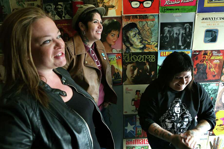 Jamie Hoppe, and Girl in a Coma members Jenn Alva and Phanie Diaz are in the process of opening the Bang Bang Club just off San Pedro. Photo: BOB OWEN /San Antonio Express-News / San Antonio Express-News