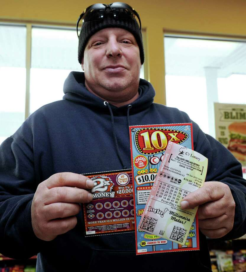 Ron Colp, of New Milford, bought five Powerball tickets, along with a few scratch cards before last Saturday's drawing. Photo: Carol Kaliff / Hearst Connecticut Media / The News-Times