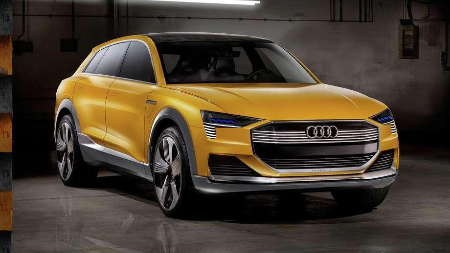 Audi's hydrogen fuel cell H-Tron Quattro Concept car. Photo: Audi