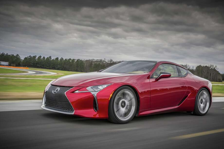 Toyota unveiled the new Lexus LC 500, a sports performance coupe that hews closely to the LF-LC Concept introduced at the Detroit show in 2012. Photo: Lexus