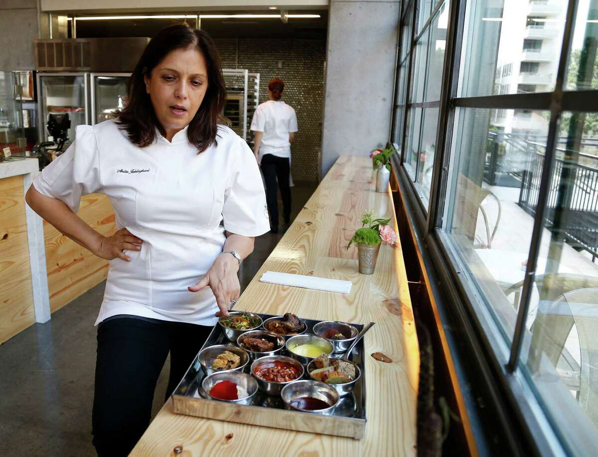 Anita Jaisinghani, the chef/owner of Pondicheri at WestAve at the newly opened Pondicheri Bake Lab in a space above the restaurant in West Ave at Kirby.
