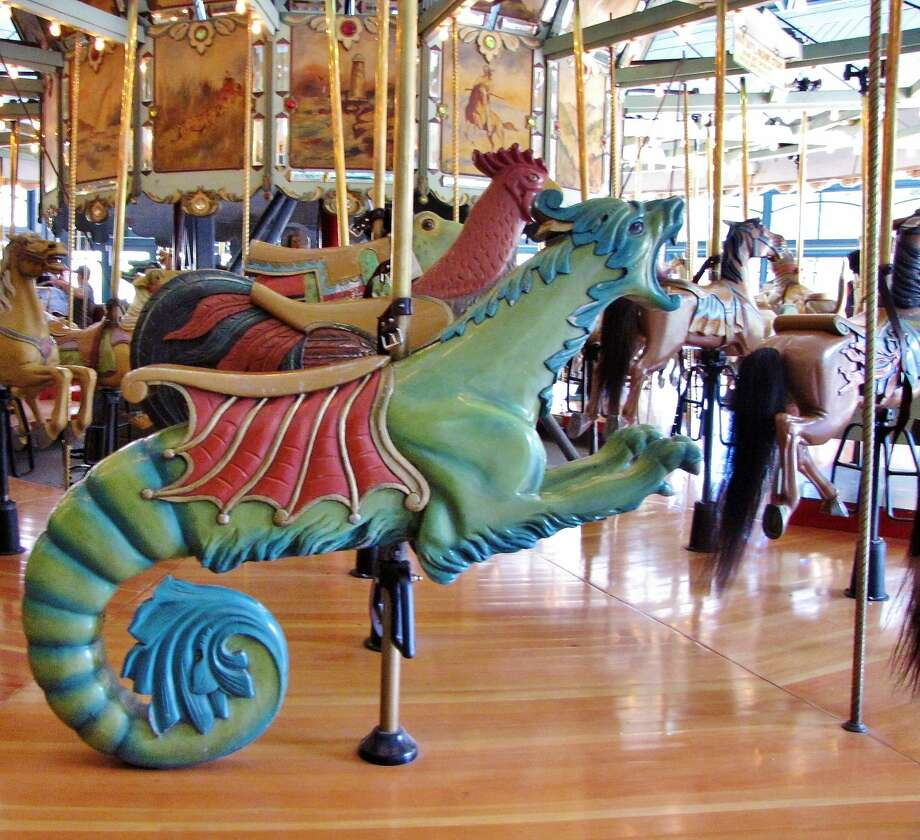The Tilden Park merry-go-round, with hand-carved poplar animals, was built in 1911 and has been in Berkeley since 1948. Photo: Stephanie Wright Hession