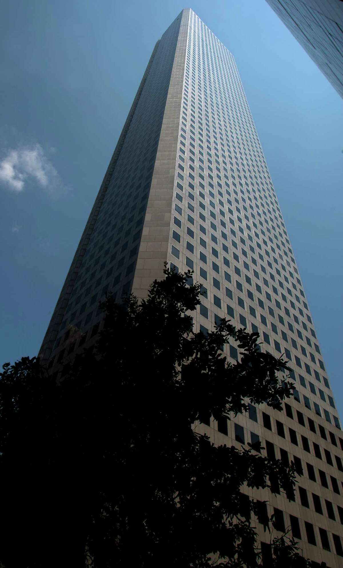 At 75 stories, JPMorgan Chase Tower stands 1,002 feet tall. It was built in 1981.