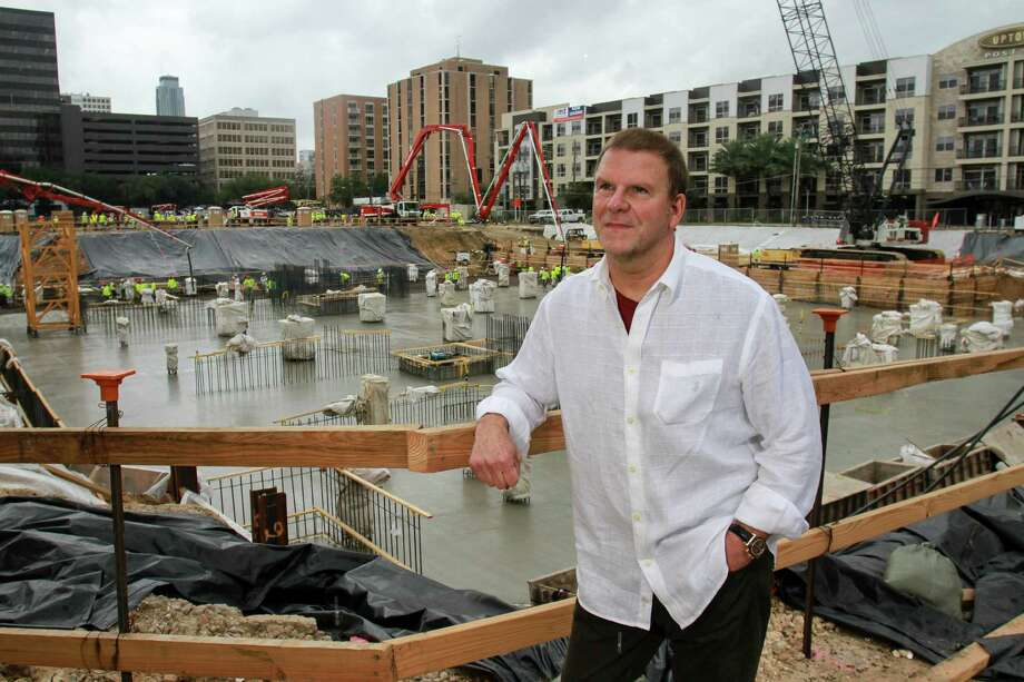 Landry's CEO Tilman Fertitta is pictured during the concrete pour for his The Post Oak,a mixed-use, master-planned project. See which restaurants are part of the Landry's restaurant empire. Photo: Gary Fountain, For The Chronicle / Copyright 2015 Gary Fountain