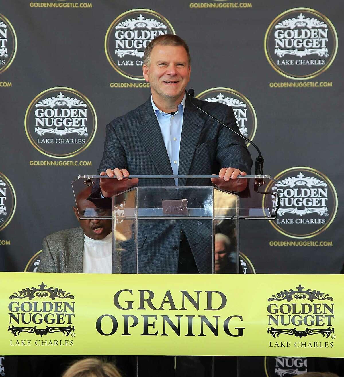 Golden Nugget Hotel & Casino owner Tilman Fertitta speaks during the ribbon cutting ceremony Monday, Dec. 8, 2014, in Lake Charles. ( James Nielsen / Houston Chronicle )