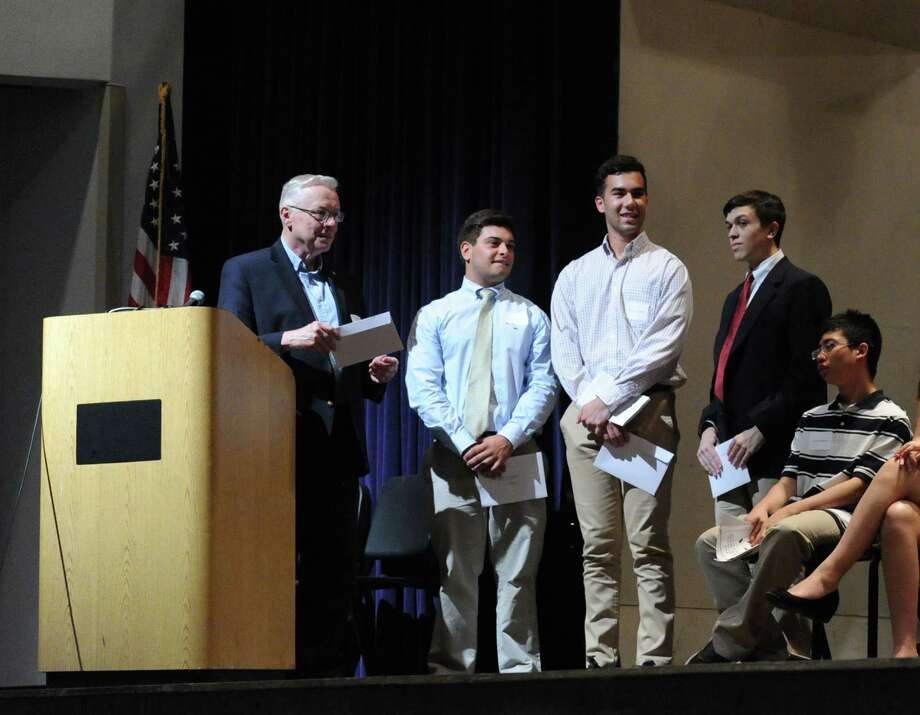 The 2015 Greenwich Scholarship Association Awards ceremony in the auditorium at Greenwich High School in June 2015. Applications are now being accepted for the 2016 graduating class. Photo: Bob Luckey / Hearst Connecticut Media / Greenwich Time