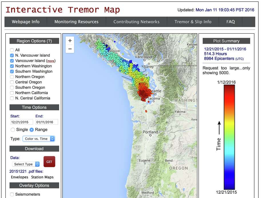 The Northwests nearly annual earthquake is underway  seattlepicom