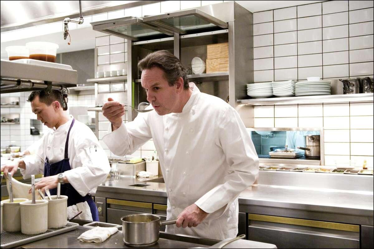 Chef Thomas Keller in the Per Se in New York.