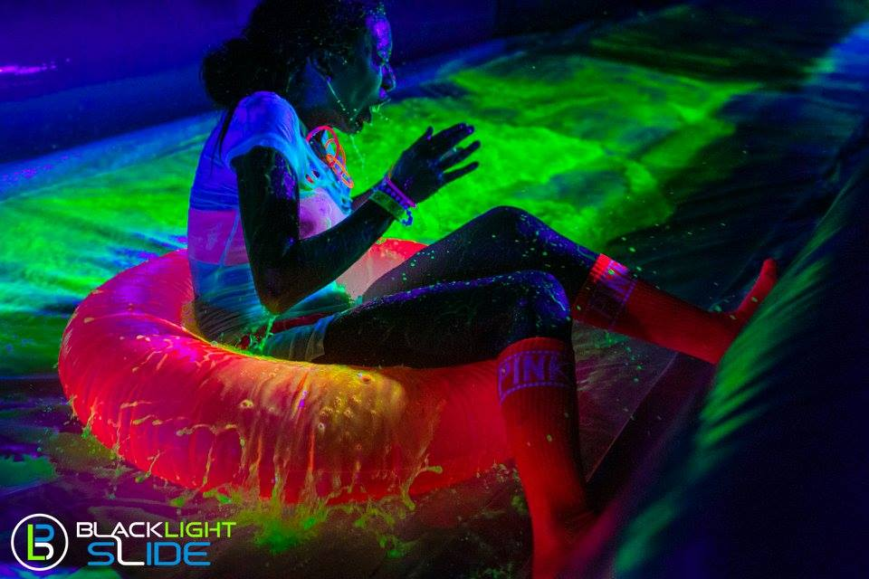 blacklight water slide headed to puyallup