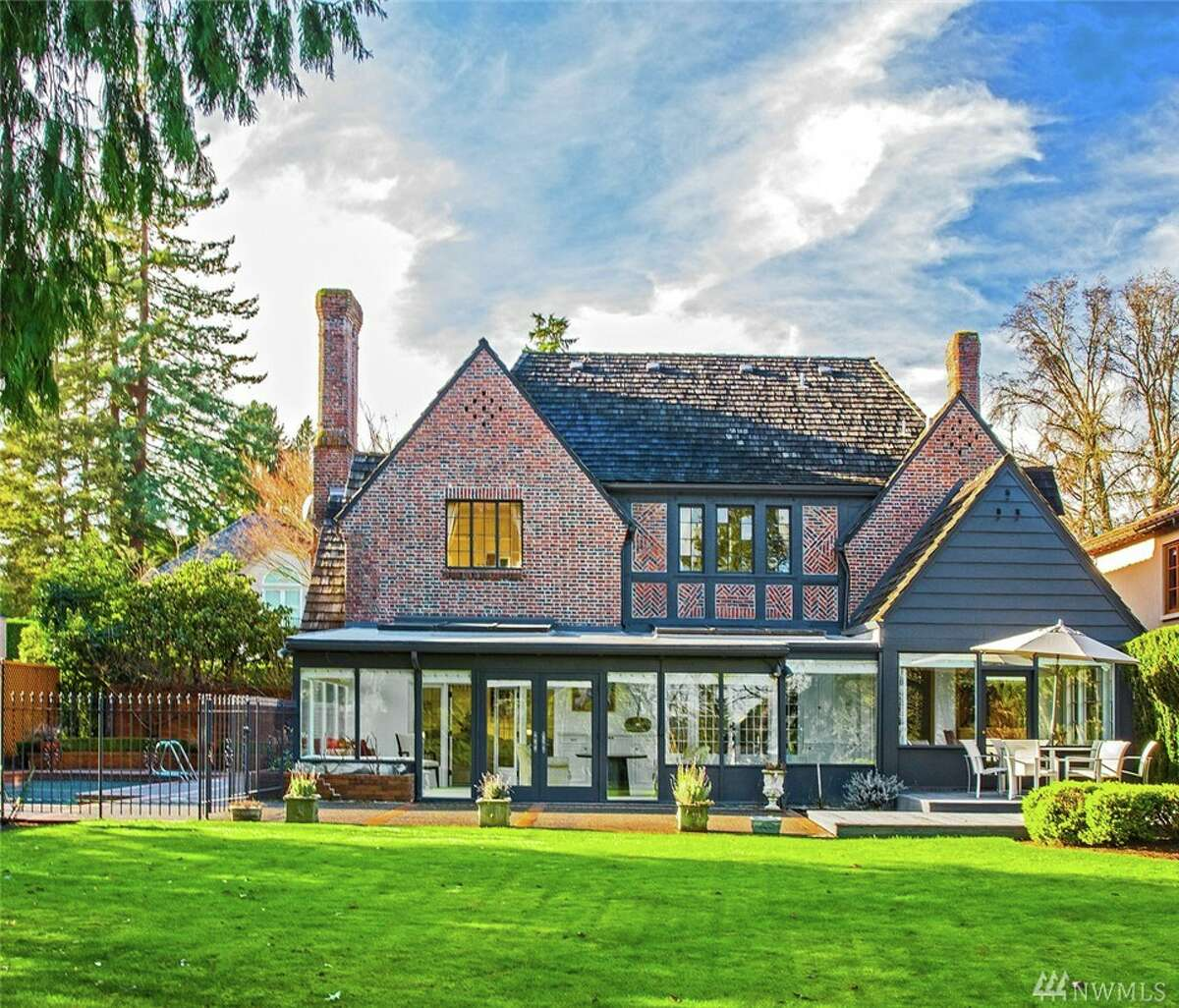 This home at 1818 Broadmoor Drive E. is listed for $3.77 million. The five bedroom, 3.5 Tudor-style home was built in 1929 and designed by Seattle architect William Bain. The home features a pool and a sun-room with views of the Broadmoor Golf Club. You can see the full listing here.