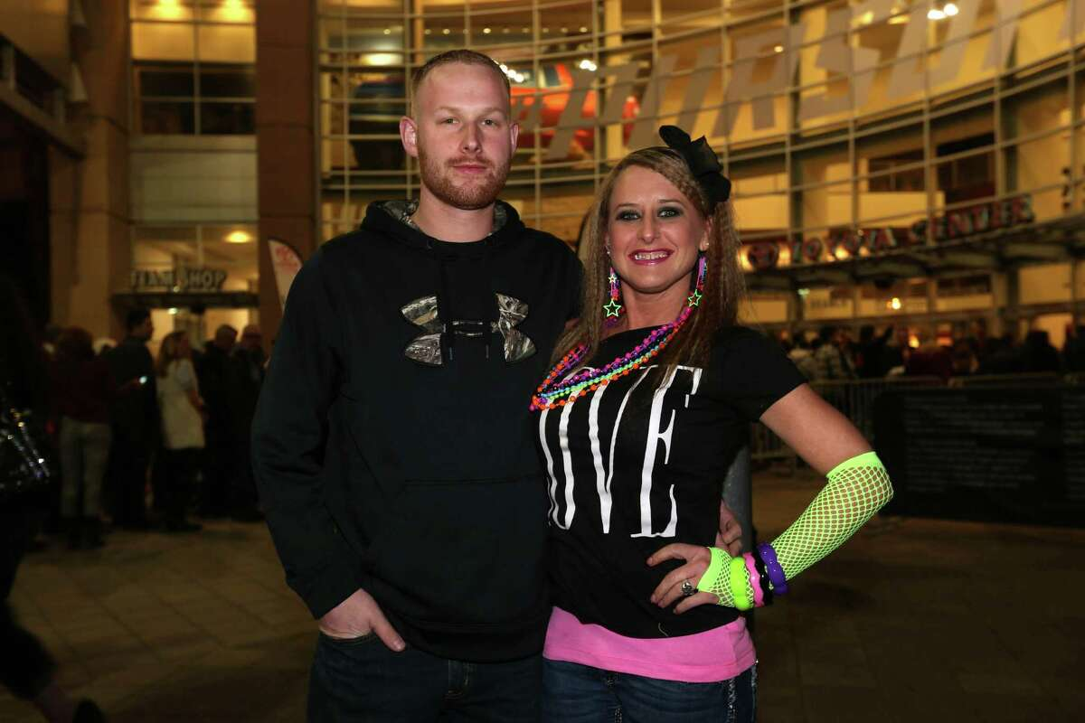 Fans at Madonna's Rebel Hearts Tour at Toyota Center on Jan. 12.