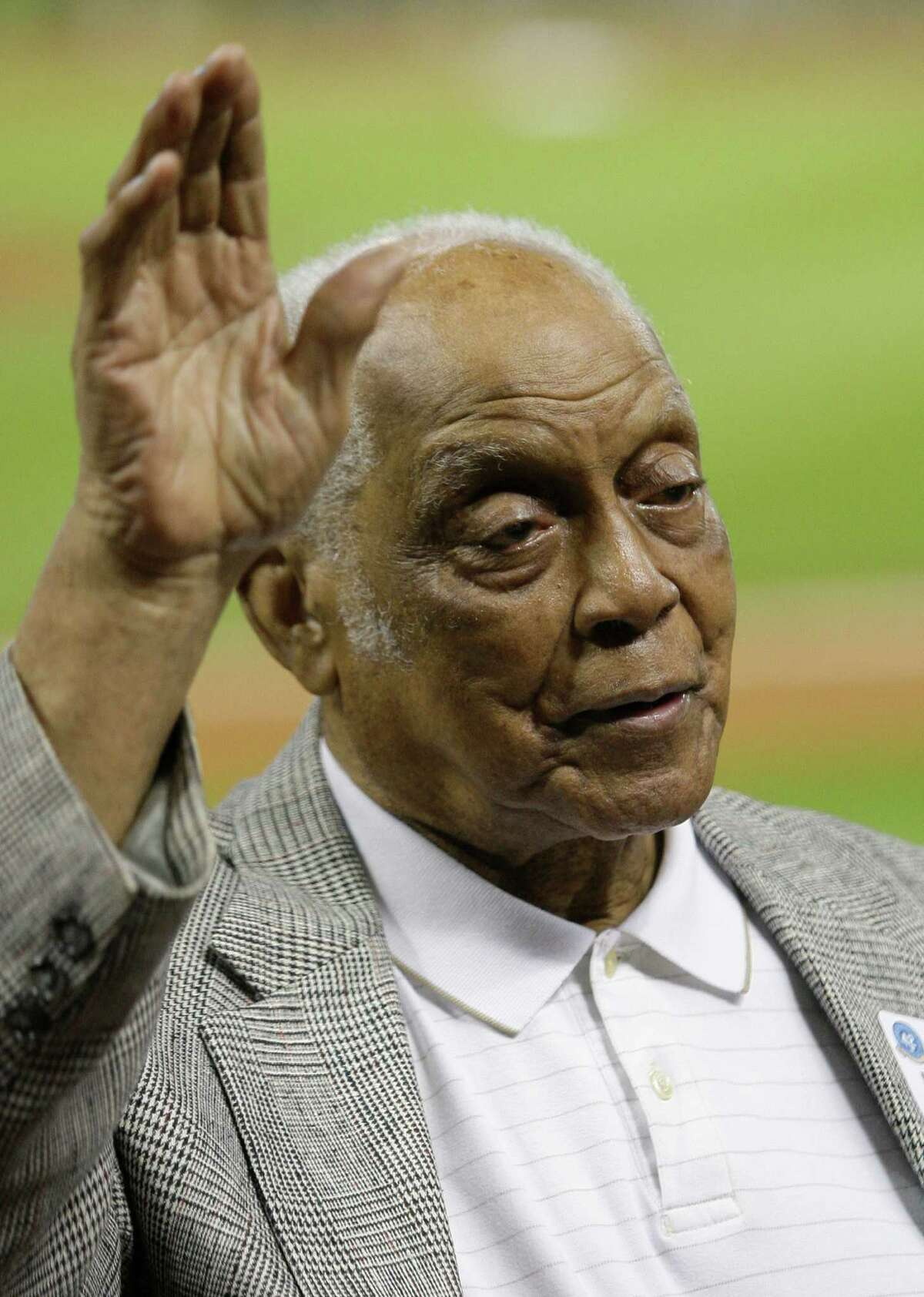Monte Irvin was part of Jackie Robinson Day at Minute Maid Park in 2012.