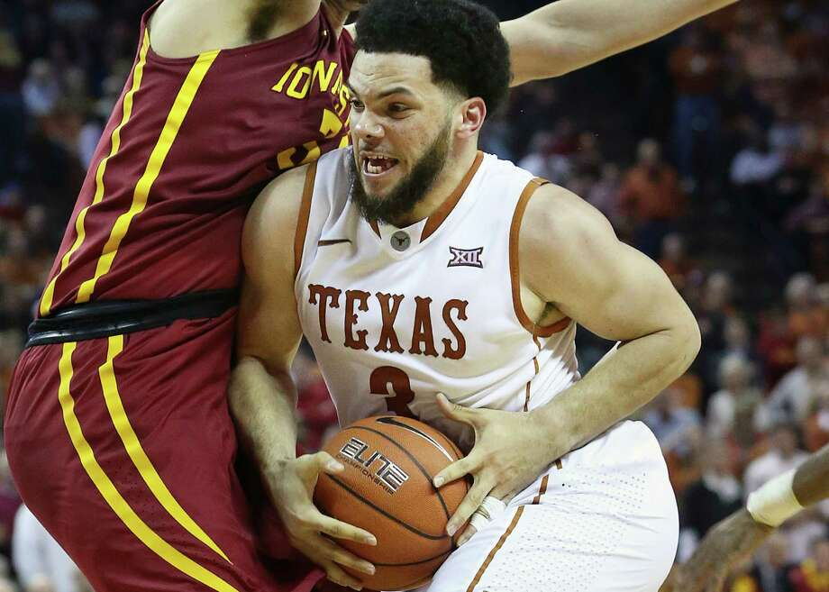 Javan Felix muscles into the paint as Texas hosts Iowa State at the Erwin Center in Austin on Jan. 12, 2016. Photo: Tom Reel /San Antonio Express-News / 2016 SAN ANTONIO EXPRESS-NEWS