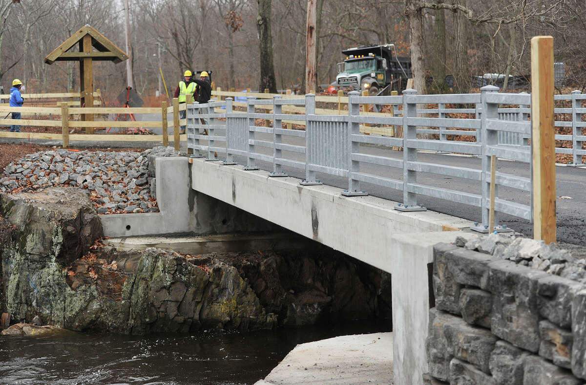 A new bridge crosses the Pequonnock River as a section of the Pequonnock Valley Greenway walking/biking trail nears completion in Bridgeport, Conn. on Wednesday, December 10, 2014. The trail, which is planned to run continuously from the Sound in Bridgeport to Newtown, features long, still unconnected sections in Bridgeport, Trumbull, and Monroe.