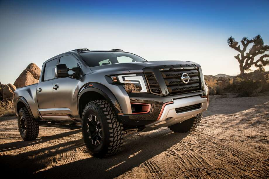 Hot cars at the Detroit auto showNissan looks ready to enter the market for jacked-up pickup trucks with the Titan Warrior Concept. The company says the truck is built on a commercial-grade chassis with looks inspired by desert racers.See more photos of the Titan Warrior Photo: Nissan / © 2016 Nissan