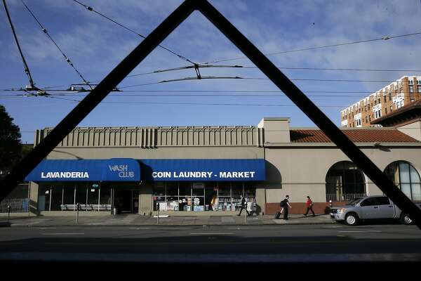 Robert Tillman is the owner of the building at 2318-2322 Mission St. that is occupied by a laundromat and market, in San Francisco, Calif. as seen on Wed. January 13, 2016. Tillman would like to develop the property into housing units.