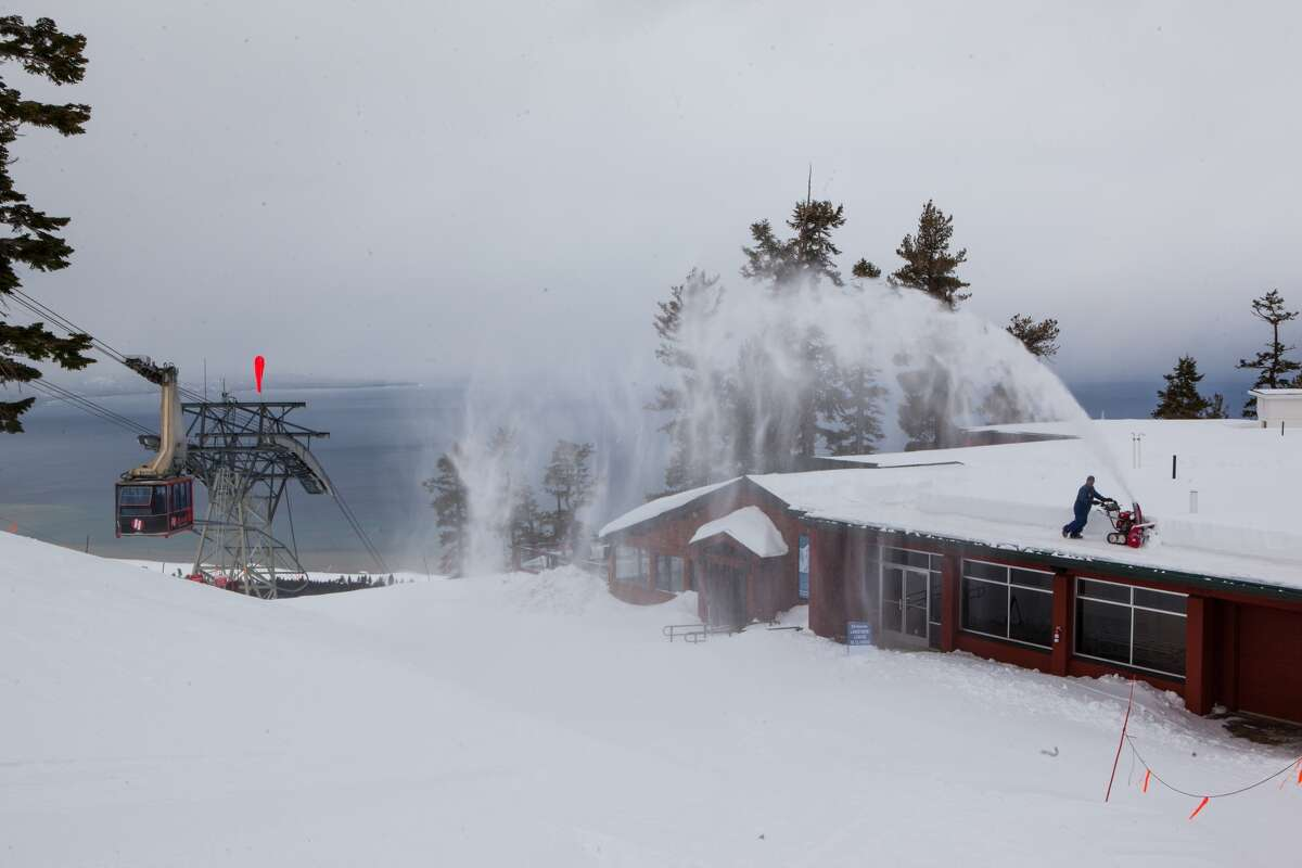 Heavenly Resort was open and welcoming skiers as a storm pounded the Sierra on Jan. 13, 2016.