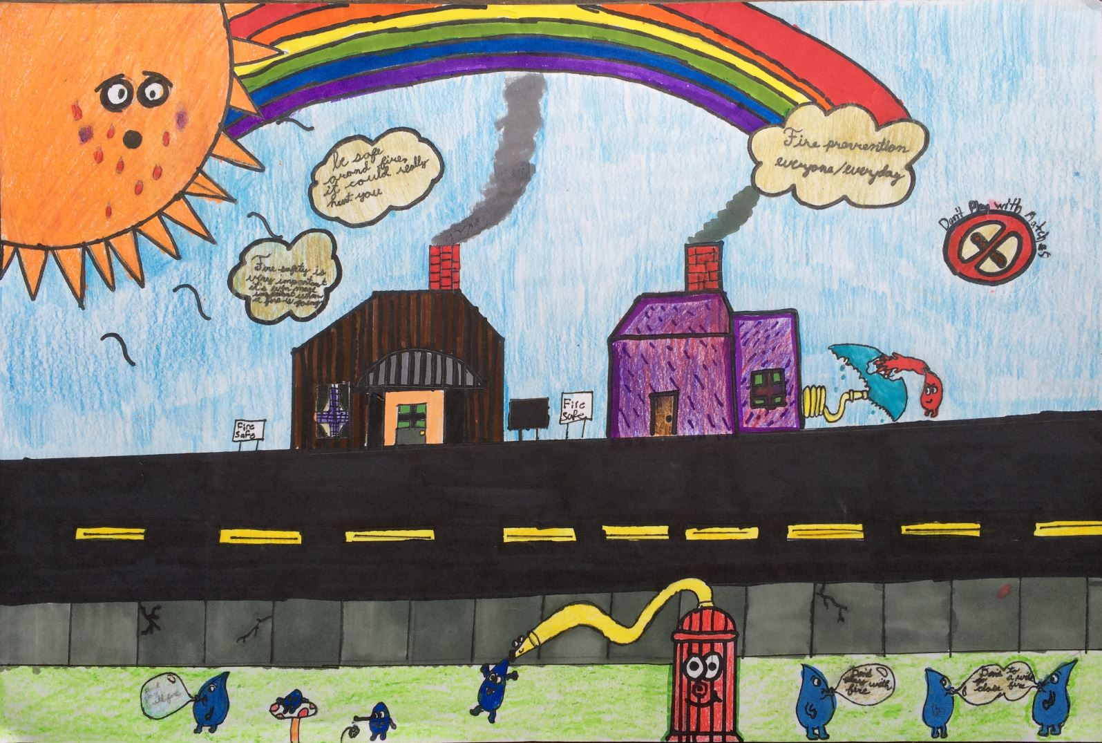 Shelton students win fire poster contest - SFChronicle com