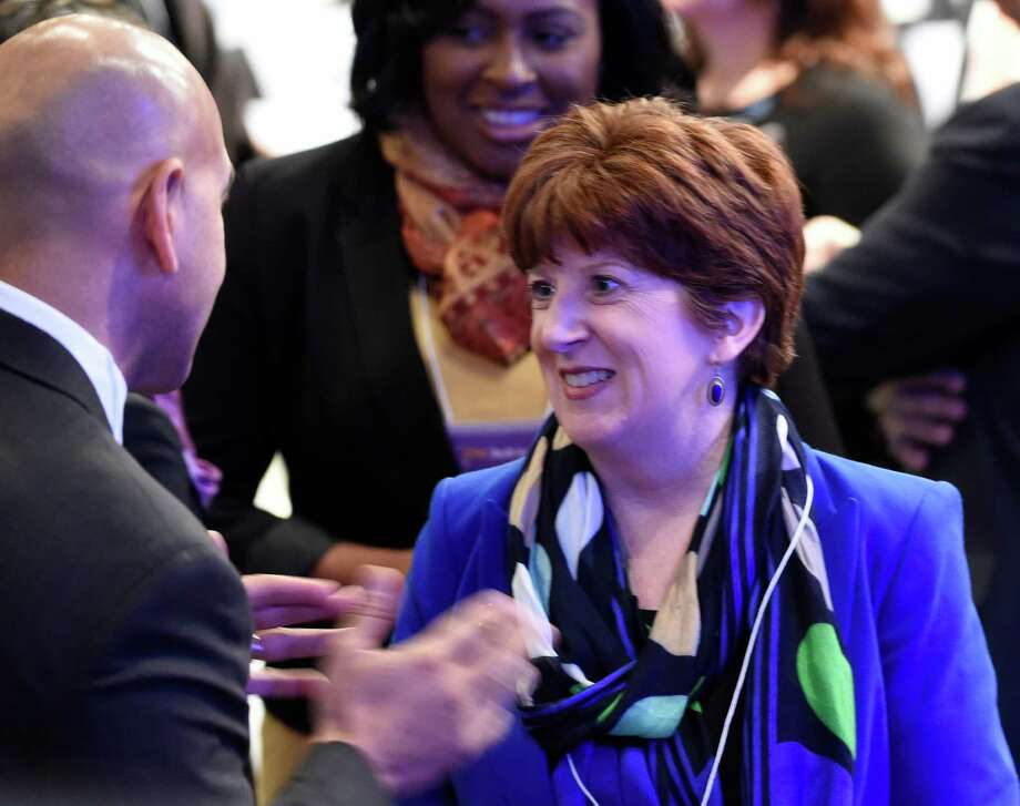 Albany Mayor Kathy Sheehan in the audience before Gov. Andrew Cuomo's presentation of the State of the State message at the Convention Center at the Empire Plaza Wednesday, Jan. 13, 2015, in Albany, N.Y. (Skip Dickstein/Times Union) Photo: SKIP DICKSTEIN / 10034976A