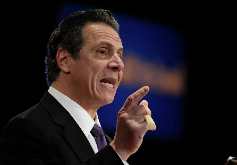 Gov. Andrew Cuomo presents his State of the State message at the Convention Center at the Empire Plaza Wednesday, Jan. 13, 2015, in Albany, N.Y.    (Skip Dickstein/Times Union) Photo: SKIP DICKSTEIN / 10034976A