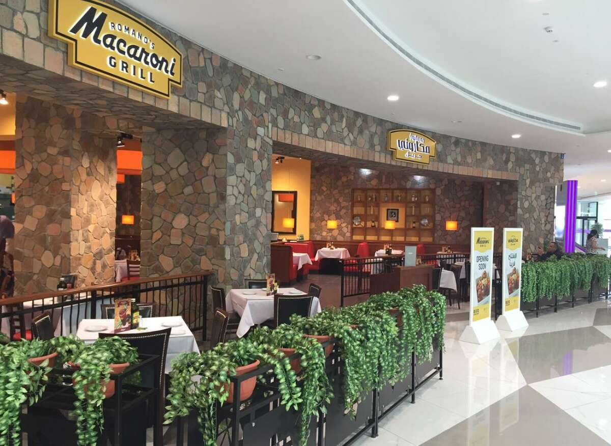 The entrance to Romano's Macaroni Grill's new restaurant in Oman. The restaurant opened Dec. 12, 2015, and is one of several franchise locations in the Middle East.