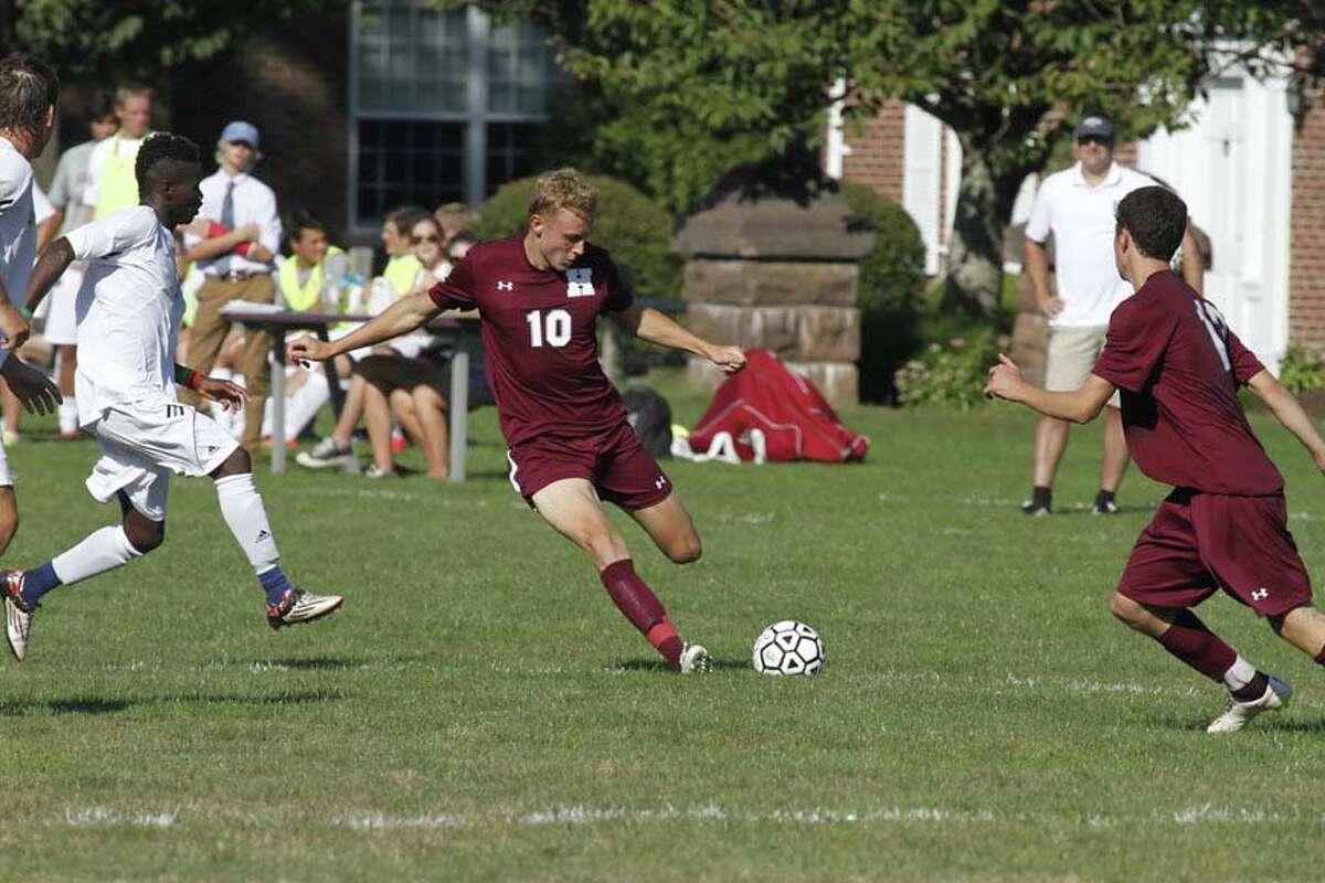 Hopkins School soccer captain Danny Leszczynski, a resident of Easton