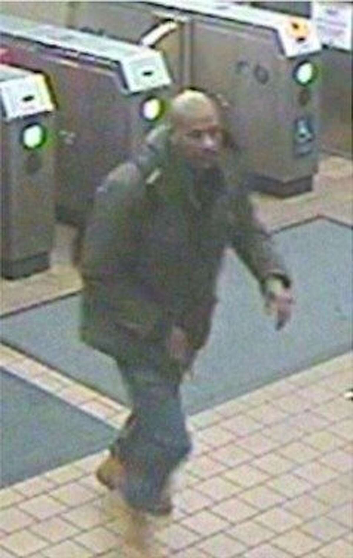 BART police on Wednesday released surveillance images of a suspect wanted in a brazen killing on a train at the West Oakland station over the weekend.