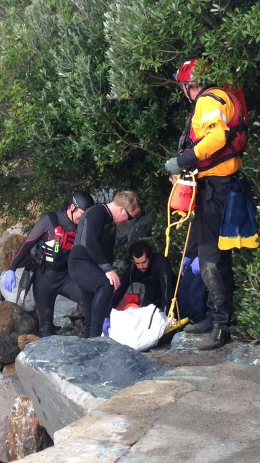Marin County Sheriff's investigators recover body of man who washed up on a beach in Bolinas Wednesday morning.