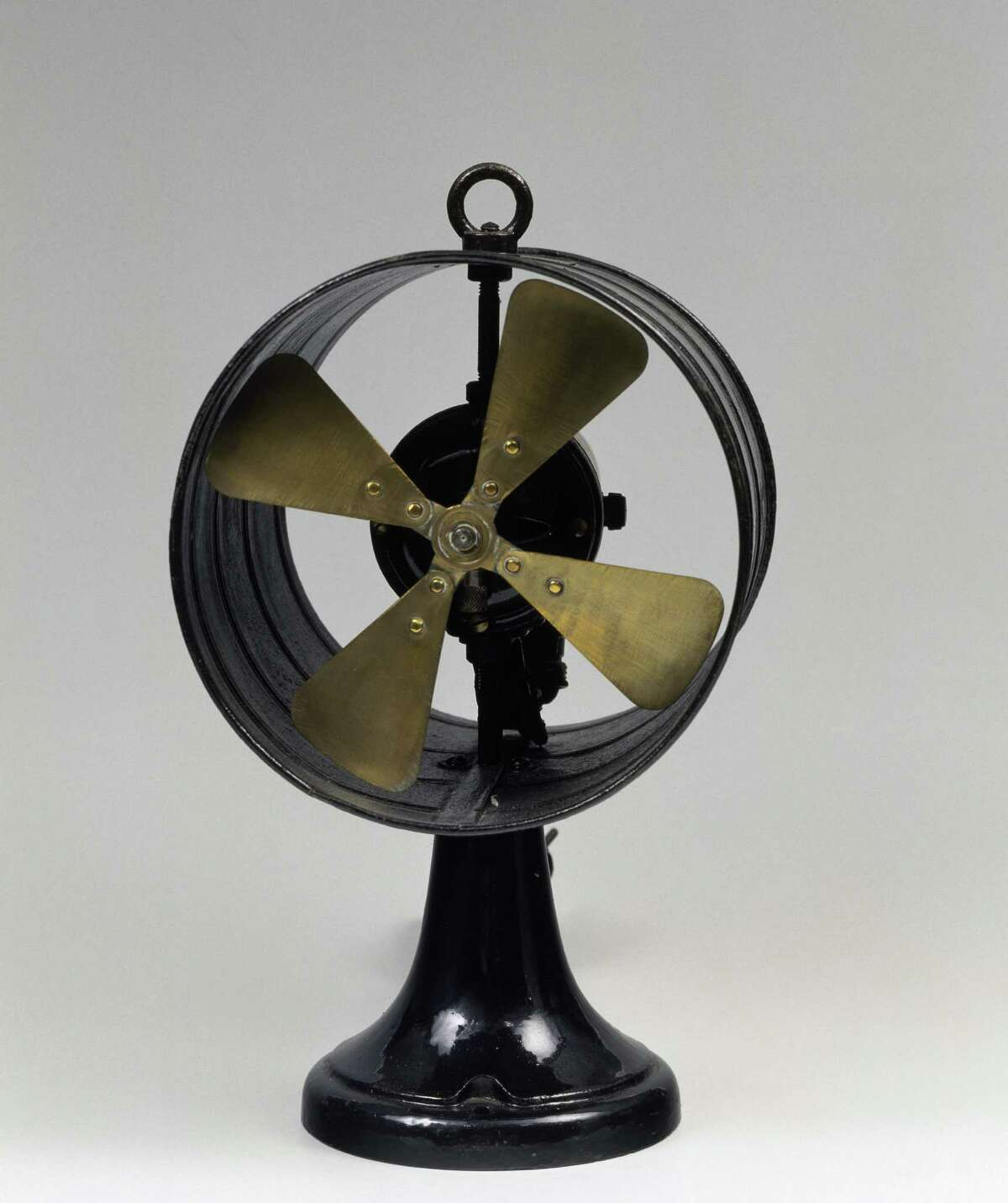 General Electric fan, iron body and brass rotor, 1910. United States of America, 20th century.