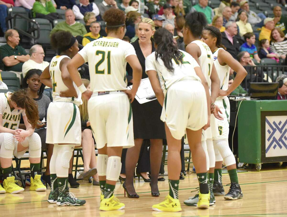 Coach Ali Jaques and the Siena women's basketball team are off to their best start in 14 years. (Photo courtesy Siena College)