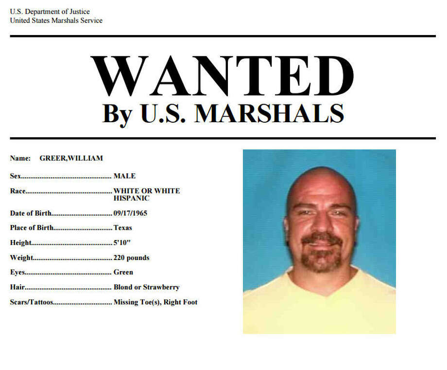 Greer is on the U.S. Most Wanted list.
