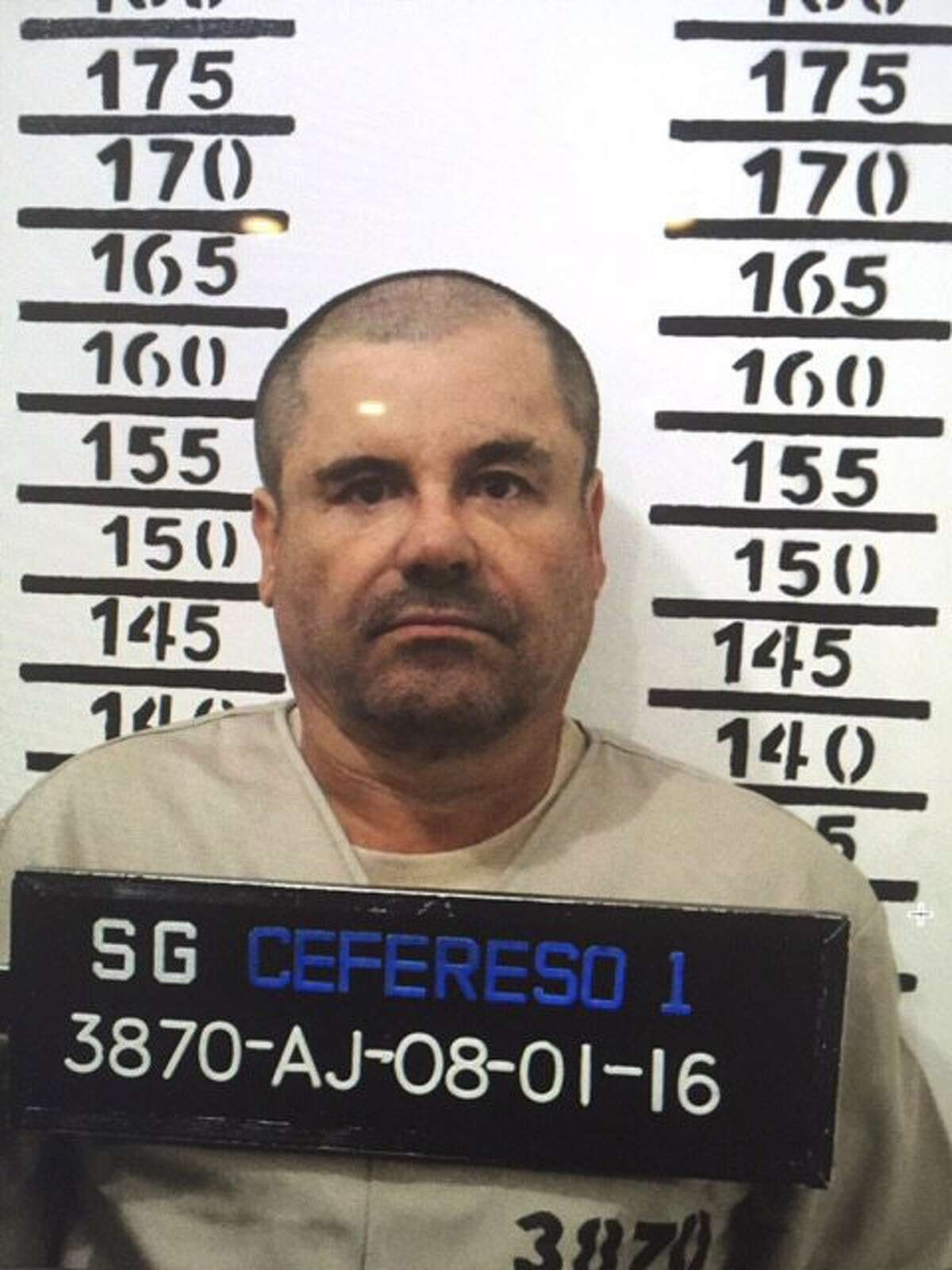 In this Jan. 8, 2016 image released by Mexico's federal government, Mexico's most wanted drug lord, Joaquin
