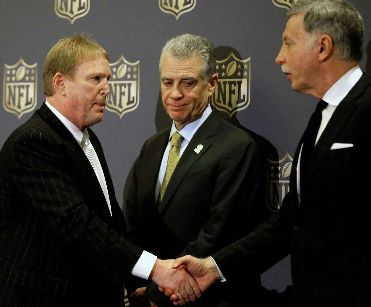 1. A failed bid brings San Antonio into the mix The Oakland Raiders were one of three franchises who presented plans at a recent NFL owners meeting in Houston for relocation to Los Angeles. Owners voted 30-2 in favor of the St. Louis Rams relocating to L.A., while also giving the San Diego Chargers first dibs on joining them. The Chargers have one-year to decide on the L.A. move.