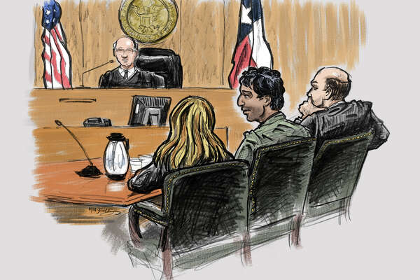 Terrorism suspect Omar Faraj Saeed Al Hardan was in court Wednesday with his translator and attorney.