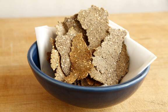 """Cricket crackers, or """"crickers,"""" in a bowl in San Francisco, California, on Wednesday, Jan. 13, 2016."""