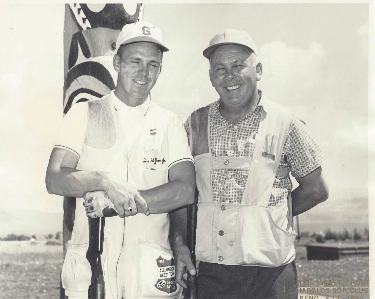 Tom Heffron and his father, Thomas J. Heffron Sr., still hold the father-son record after breaking 499 of 500 targets in 1966 at the World Championships in Kansas City, Mo.