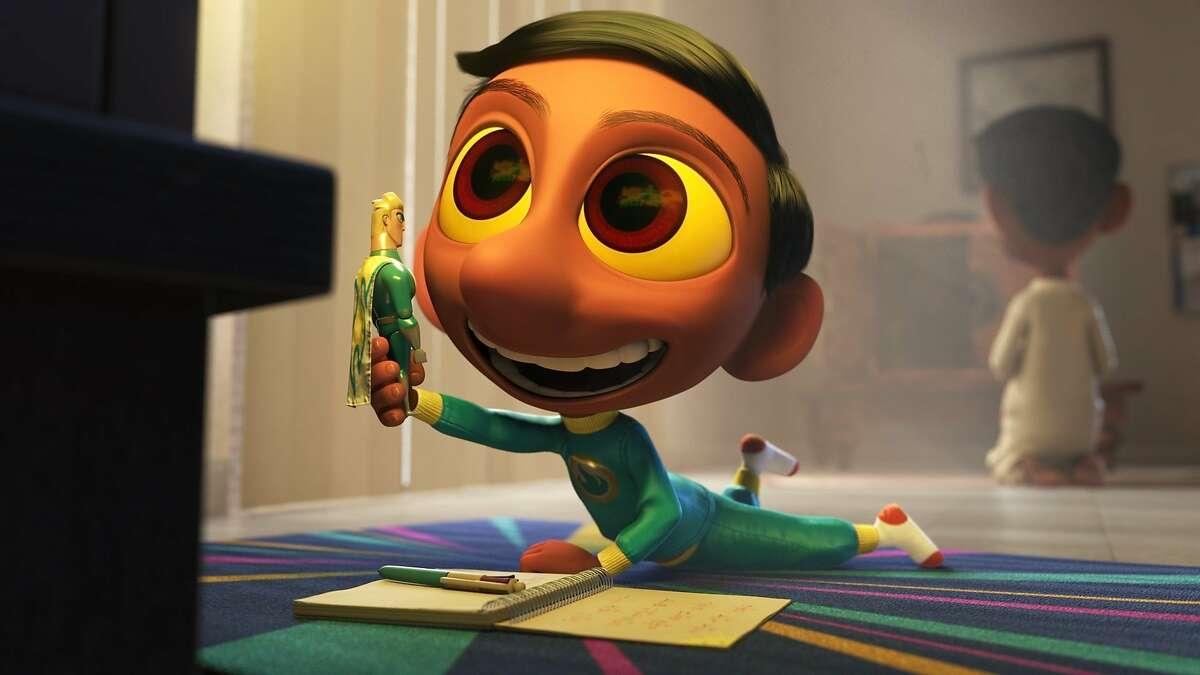 A film still from Sanjay Patel's new Pixar short,