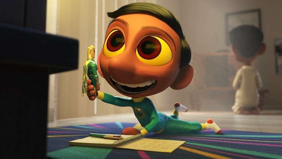 "A film still from Sanjay Patel's new Pixar short, ""Sanjay's Super Team."" Photo: Pixar"