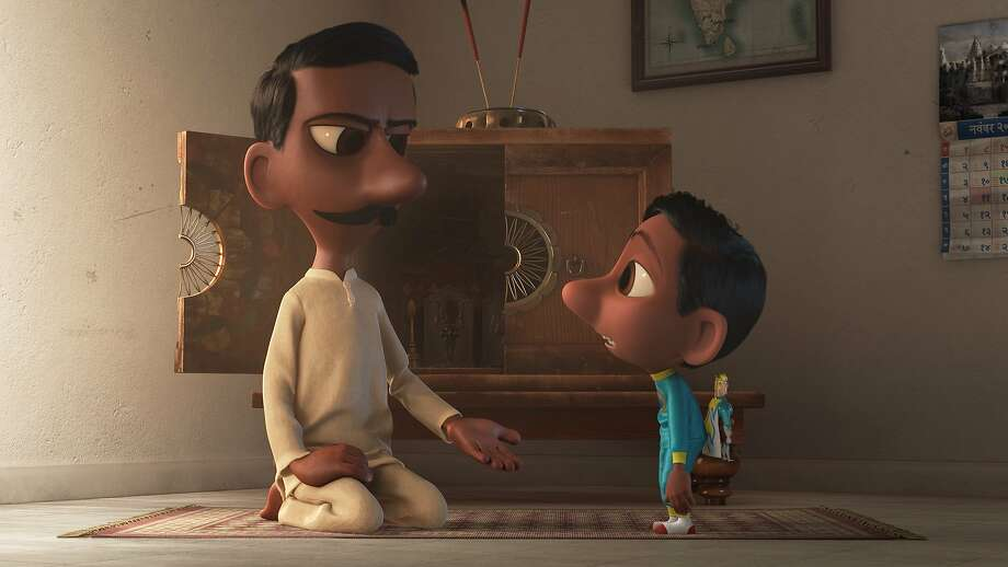 """In Pixar Animation Studios' """"Sanjay's Super Team,"""" a first-generation Indian-American boy whose love for western pop culture comes into conflict with his father's traditions. Photo: Pixar"""