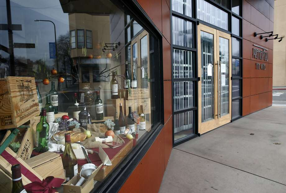 The Premier Cru wine store on University Avenue is shuttered in Berkeley, Calif. on Thursday, Jan. 14, 2016. Owners of the wine futures business filed for bankruptcy leaving customers in the lurch. Photo: Paul Chinn, The Chronicle