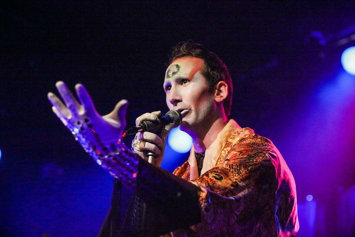 Lysol Tony-Romero performs with his band the Church of the Sacred Silversexual, at Slim's in San Francisco, California on Wednesday, January 13, 2016.
