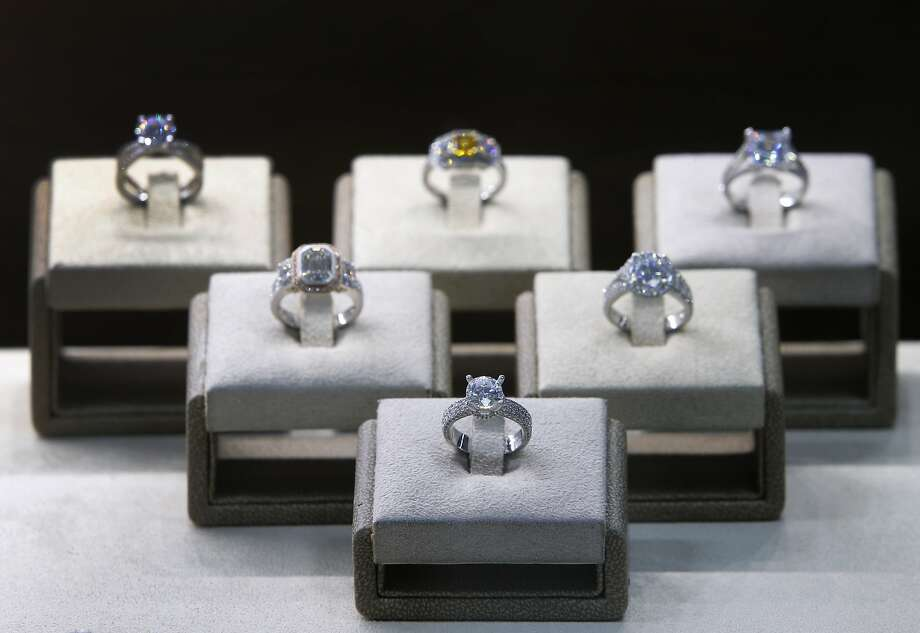 Rings designed by jeweler Set F. dazzle in his La Bijouterie jewelry boutique in S.F. Photo: Paul Chinn, The Chronicle