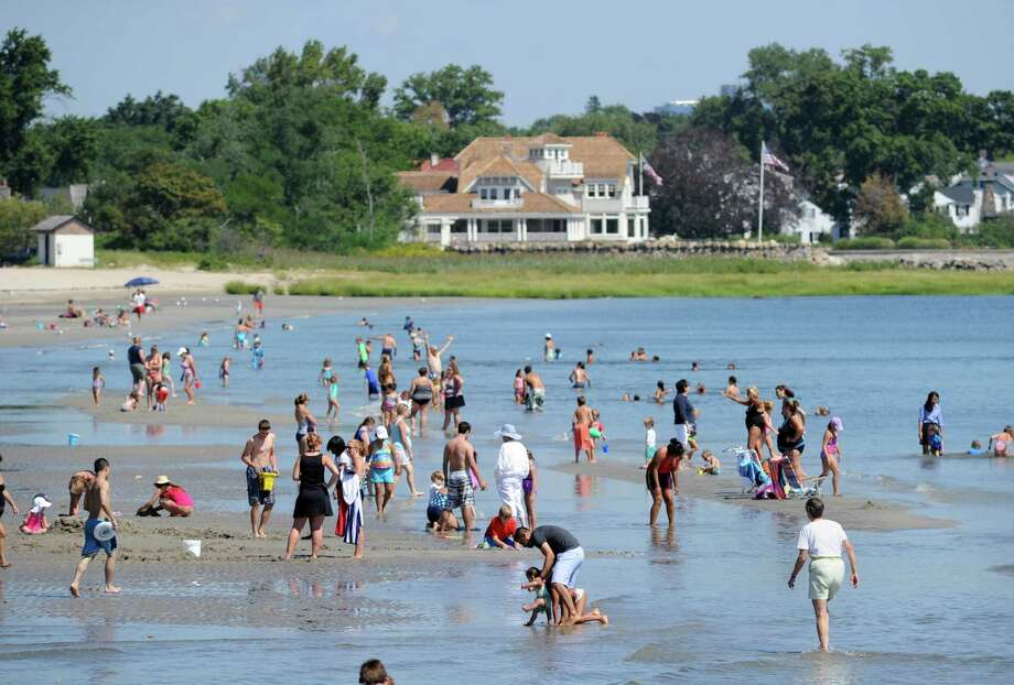 With new beach fees and policies, the town is hoping to reduce possible overcrowding at Greenwich Point during 2016. Photo: Bob Luckey Jr. / Hearst Connecticut Media / Greenwich Time