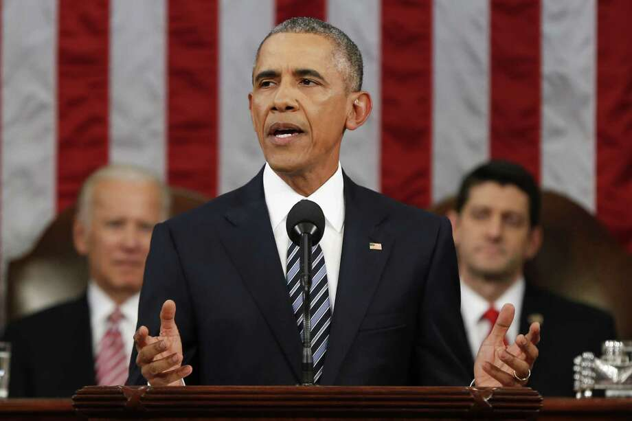 President Barack Obama delivers his State of the Union address before a joint session of Congress on Tuesday. Obama advanced no ideological claim of what government should do; no technocratic vision of how its performance might be improved. Photo: Pool /Getty Images / 2016 Getty Images