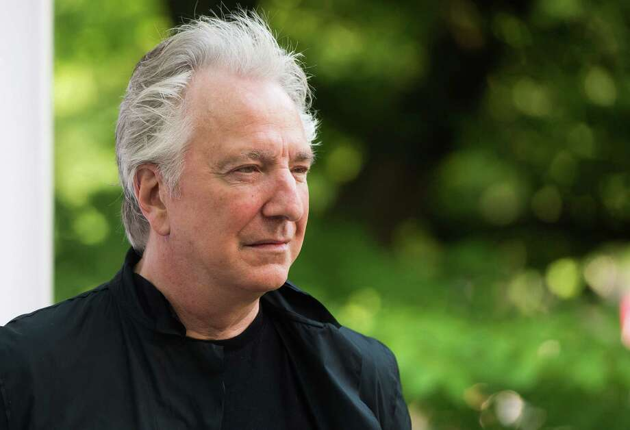 "FILE - In this Tuesday, June 9, 2015 file photo, actor Alan Rickman attends The Public Theater's Annual Gala at the Delacorte Theater in Central Park, in New York.  British actor Alan Rickman, whose career ranged from Britain's Royal Shakespeare Company to the ""Harry Potter"" films, has died. He was 69.  Rickman's family said Thursday, Jan. 14, 2016 that the actor had died after a battle with cancer.  (Photo by Charles Sykes/Invision/AP, File) ORG XMIT: LON108 Photo: Charles Sykes / Invision"
