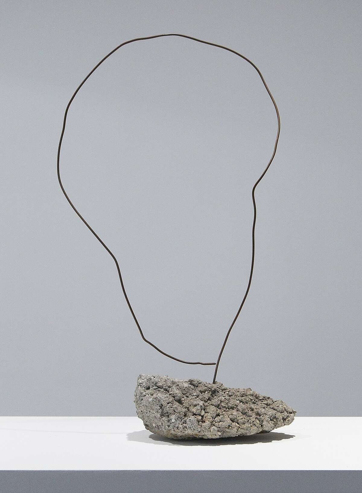 An untitled work by David Ireland, on view at San Francisco Art Institute, epitomizes his use of such simple materials as wire and concrete. The form refers to an elephant's ear or a map of Africa.