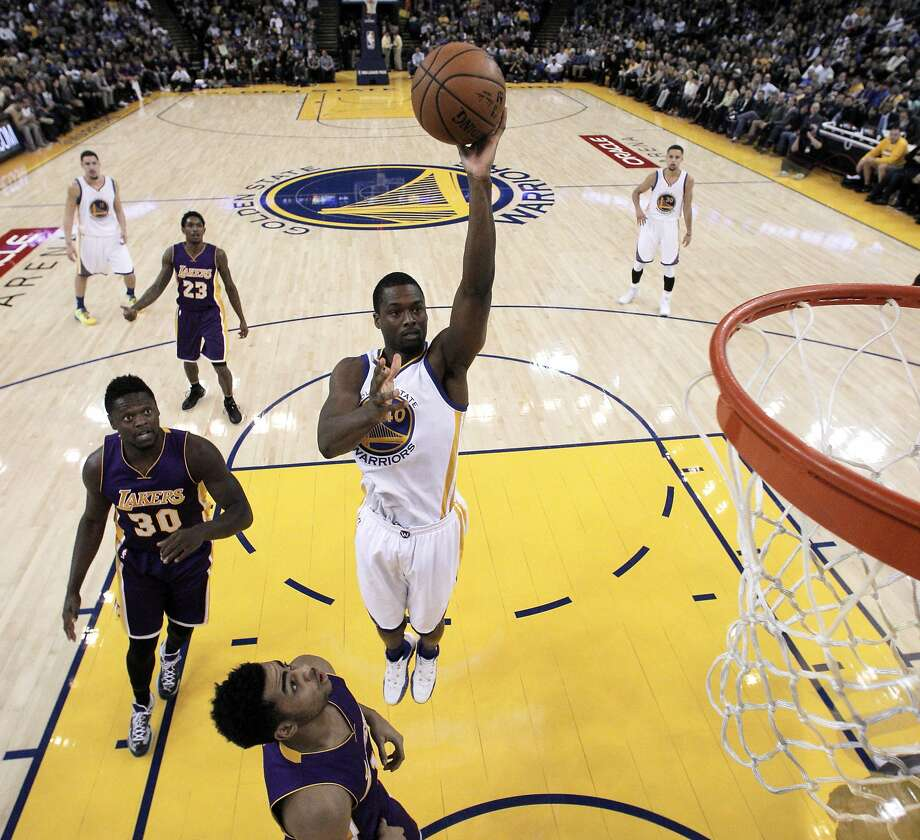 "Harrison Barnes seems undeterred by rumors that the Warriors might trade him. ""That's part of the business,"" he says. Photo: Carlos Avila Gonzalez, The Chronicle"
